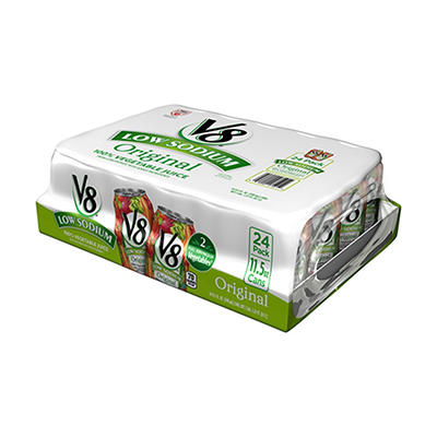 V8 100% Vegetable Juice - Low Sodium - 24/11.5 oz. cans