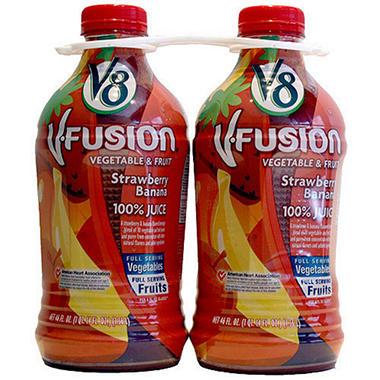 V8 V-Fusion Strawberry Banana - 2/64 oz.