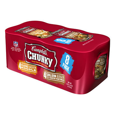 Campbell's Chunky Soup Variety Pack - 18.8 oz. cans - 8 pk.