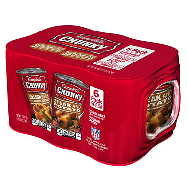 Campbell's Chunky Steak and Baked Potato and Sirloin Burger - 18.8 oz. - 6 pk.