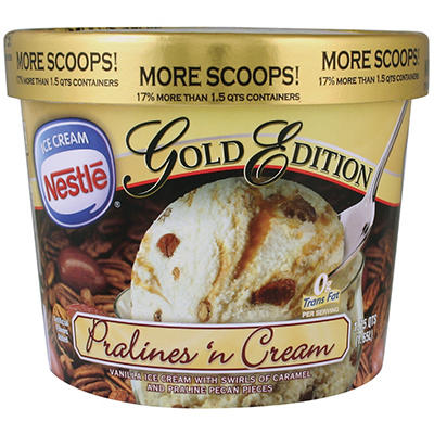 Nestle Gold Edition Pralines 'n Cream Ice Cream - 1.75 qts.