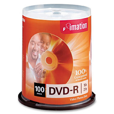 Imation DVD-R Recordable Disc - 100/pack