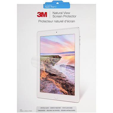 3M™ Natural View Screen Protector for Apple iPad® 2 - 2 ct.