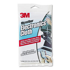 3M - Microfiber Electronics Cleaning Cloth, 12 x 14 -  White