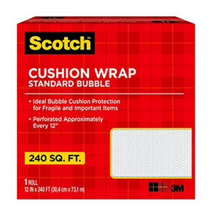 "Scotch Cushion Bubble Wrap, 12"" X 240' Roll, 240 sq. ft."
