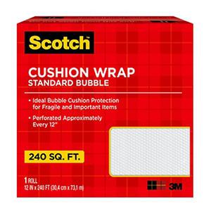 "Scotch Cushion Bubble Wrap, 12"" X 240' Roll, 240 sq. ft."