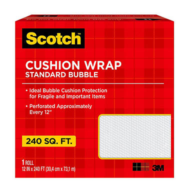 Scotch Cushion Bubble Wrap, 240 sq. ft.