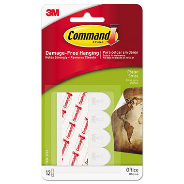 3M Poster Strip with Command Adhesive Value Pack