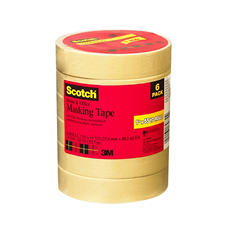 "Scotch Masking Tape - 1"" x 55 yds. - 6 Rolls"