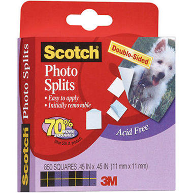 Scotch Photo Splits Mounting Squares 850/Box - .45