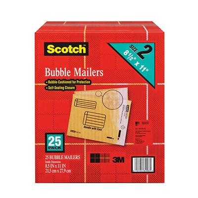 """Scotch Bubble Mailers - size 2 (8.5"""" x 11"""") - 25 pk."""