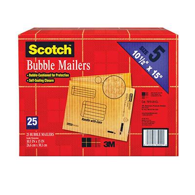 """Scotch Bubble Mailers - size 5 (10.5"""" x 15"""") - 25 pk."""
