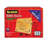 "Scotch Bubble Mailers, size 5, 10.5"" x 15"", 25pk."