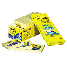 Post-it - Cabinet Pack - Pop-up Notes - 3 x 3 - Canary Yellow - 18 90-Sheet Pads/Pack