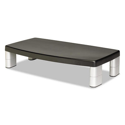 3M - Extra-Wide Adjustable Monitor Stand -  Black
