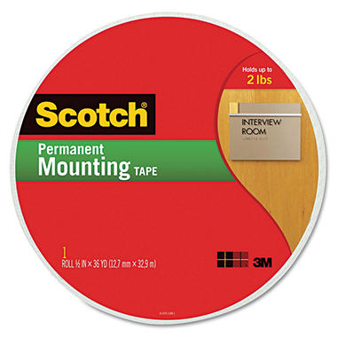 "3M Scotch Foam Mounting Tape, 3/4"", 1368"" Long"