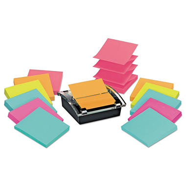 Post-it - Super Sticky Pop-up Dispenser Value Pack - 3 x 3 - Assorted
