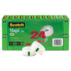 "Scotch Magic Tape Value Pack, 3/4"" x 1000"", 1"" Core, Clear, 24pk"