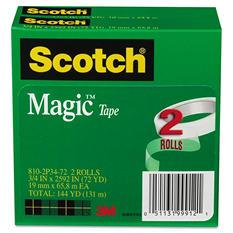 """Scotch - Magic Tape, 3/4"""" x 2592"""", 3"""" Core -  2/Pack"""