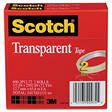 "Scotch Transparent Tape 600-2P12-72, 1/2"" x 2592"" - 2 Pack"