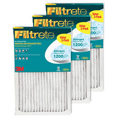 Filtrete Allergen Reduction 3 Pack Filters - 20 in x 20 in x 1 in