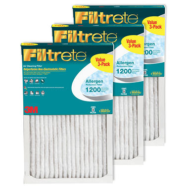 Filtrete Allergen Reduction 3 Pack Filters - 14 in x 25 in x 1 in