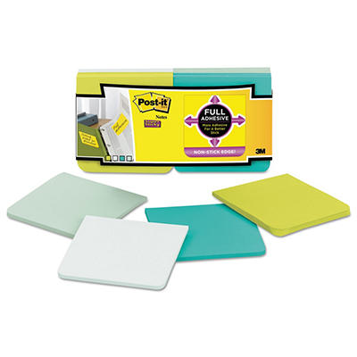 "Post-it Full Adhesive Notes - Assorted Colors - 3"" x 3"" - 12 pk."