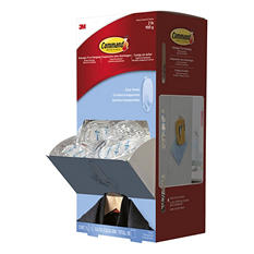 Command - Clear Hooks & Strips, Plastic, Medium -  50 Hooks w/50 Adhesive Strips per Carton