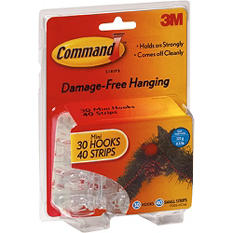 3M Command™ Brand Holiday Hooks - Choose From 8 Different Indoor or Outdoor Hook Sizes and Styles
