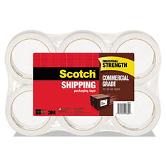 "Scotch 3750 Commercial Grade Packaging Tape, 1.88"" x 54.6yds, Clear, Select Quantity"
