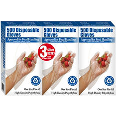Clean Ones Plastic Disposable Gloves (1,500 ct.)