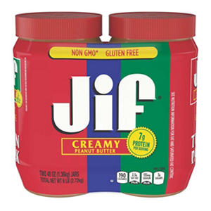 Jif Creamy Peanut Butter (2 jars, 40 oz. each)