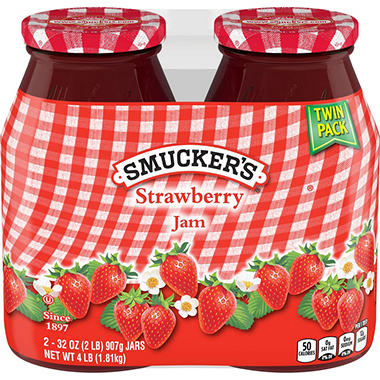 Smucker's� Strawberry Jam - 2/32 oz. jars