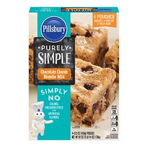 Pillsbury Purely Simple Chocolate Chunk Blondie Mix (15.5 oz., 4 ct.)