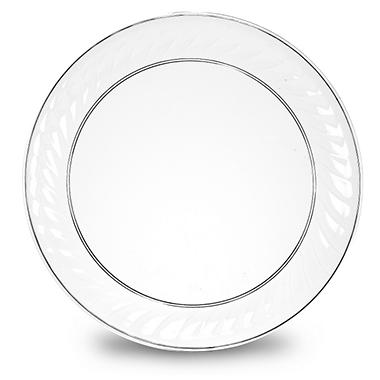 "12"" Round Scalloped Edge Trays - 12 pk."