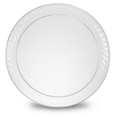 "16"" Round Scalloped-Edge Trays - 12 pk."