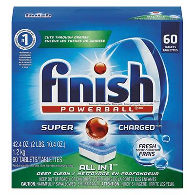 FINISH - Powerball Dishwasher Tabs, Fresh Scent -  60/Box