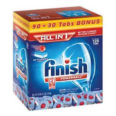 Finish Powerball Dishwashing Tabs - 90 ct. + 30 ct. Bonus