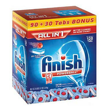 Finish Powerball Dishwashing Tabs - 90 ct. + 30 ct. Bonus