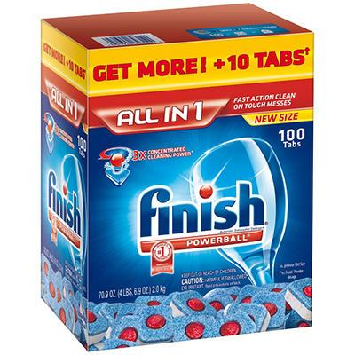 Finish Powerball Dishwashing Tabs - 100 ct.