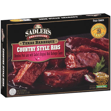Sadler's Smokehouse Texas Barbeque Country Style Ribs - 14 oz. - 2 pk.
