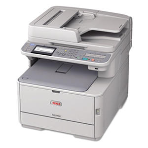 Oki - MC362w Wireless Multifunction Color Laser Printer -  Copy/Fax/Print/Scan