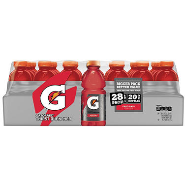 Gatorade Fruit Punch (20 oz. bottles, 28 ct.)