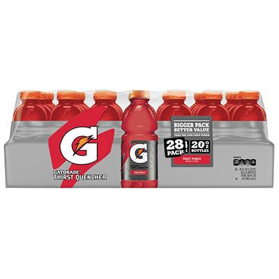 Gatorade Fruit Punch (20 oz. bottles, 28 ct.)