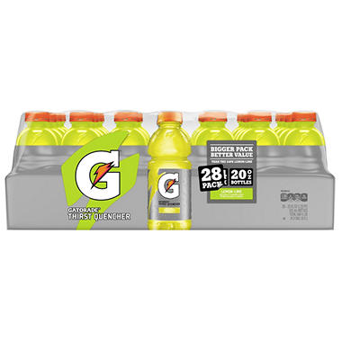 Gatorade Lemon Lime Sports Drink (20 oz. bottles, 28 pk.)