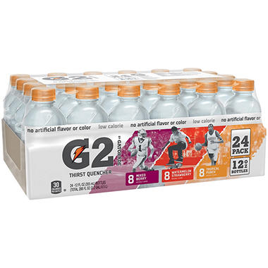 Gatorade� G2 Variety Pack - 24 / 12 oz. Bottles