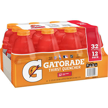 Gatorade Fruit Punch, 32oz. (12pk)