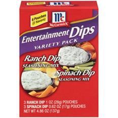 McCormick Entertainment Dips - 6 pk - Variety Kit