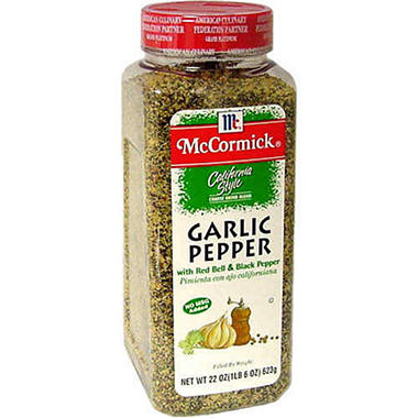 McCormick&reg Garlic Pepper - 22 oz.