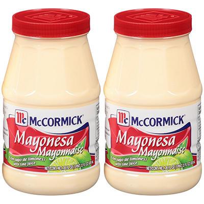 McCormick® Mayonnaise with Lime Juice - 2 pk. - 28 oz.
